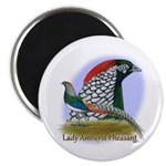 "Lady Amherst Pheasant 2.25"" Magnet (10 pack)"