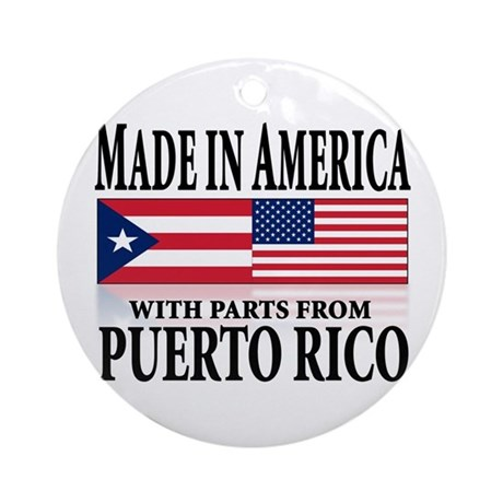 Puerto RICAN Ornament (Round)