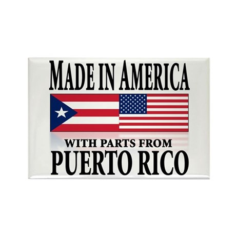 Puerto RICAN Rectangle Magnet (10 pack)