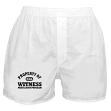 Property of Witness Protectio Boxer Shorts