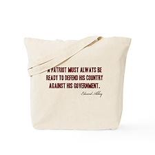 Patriot Quote Tote Bag