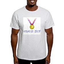 Visualize Gold Ash Grey T-Shirt