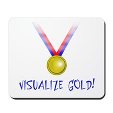 Visualize Gold Mousepad