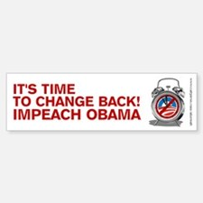 Time to Change Back NOBama, Bumper Bumper Sticker
