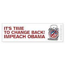 Time to Change Back NOBama, Bumper Sticker
