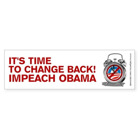 Time to Change Back NOBama, Sticker (Bumper)