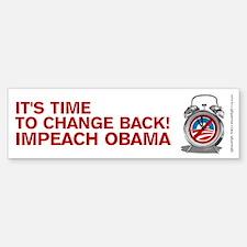 Time to Change Back NOBama, Sticker (Bumper)
