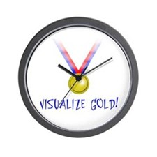 Visualize Gold Wall Clock