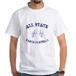All State Paper Football White T-Shirt