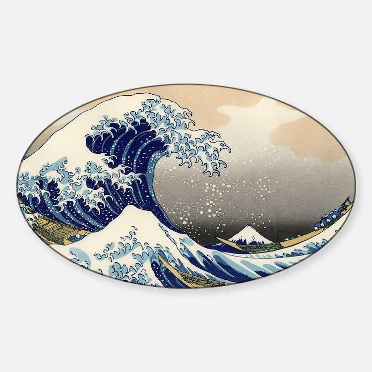 Great Wave Sticker (Oval)
