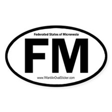Federated States of Micronesia Oval Decal