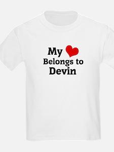 My Heart: Devin Kids T-Shirt