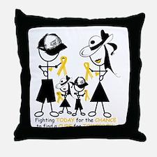 Childhood Cancer Awareness Throw Pillow