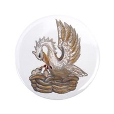 "Arabella's Pelican 3.5"" Button"