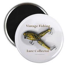"Vintage Lure Collector 2.25"" Magnet (10 pack)"