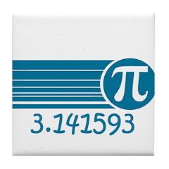 Pi Symbol Tile Coaster