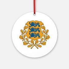 Estonia Coat of Arms Ornament (Round)