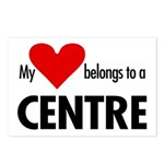 Heart belongs, centre Postcards (Package of 8)
