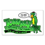Tommy the Insulting Parrot Lo Sticker (Rectangle)