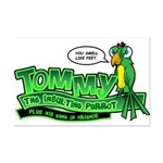 Tommy the Insulting Parrot Lo Mini Poster Print