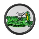 Tommy the Insulting Parrot Lo Large Wall Clock