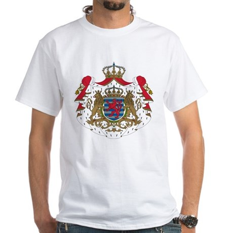 Luxembourg Coat of Arms (Front) White T-Shirt