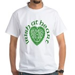 'Irish at Heart' White T-Shirt