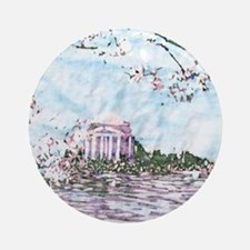 Cherry Blossoms Ornament (Round)