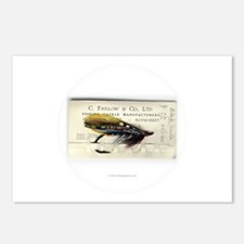 Black Doctor Salmon Fly Postcards (Package of 8)