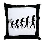 DeVolution Throw Pillow