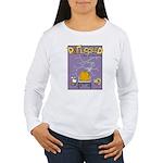 Deflocked Pumpkin Women's Long Sleeve T-Shirt