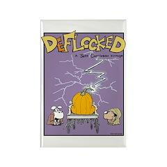 Deflocked Pumpkin Rectangle Magnet