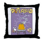 Deflocked Pumpkin Throw Pillow