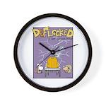 Deflocked Pumpkin Wall Clock