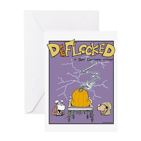Deflocked Pumpkin Greeting Card