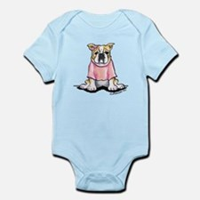Girly Bulldog Infant Bodysuit