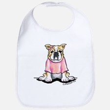 Girly Bulldog Bib