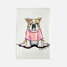 Girly Bulldog Rectangle Magnet