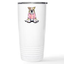Girly Bulldog Travel Mug