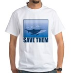 Save The Whales White T-Shirt