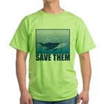 Save The Whales Green T-Shirt