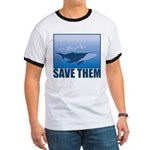 Save The Whales Ringer T