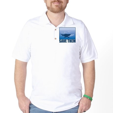 Save The Whales Golf Shirt