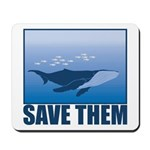 Save The Whales Mousepad