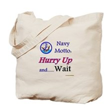 Navy Hurry Up Tote Bag
