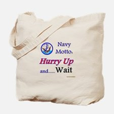 Navy Hurry Up Tote Bag