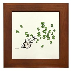 Mamet Money Framed Tile