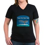 Whale Women's V-Neck Dark T-Shirt