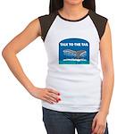 Whale Women's Cap Sleeve T-Shirt