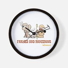 Farmed and Dangerous Wall Clock
